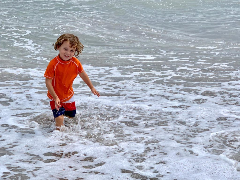 Sawyer in his happy place, making us want to move to the beach
